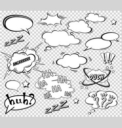 Big set of cartoon comic speech bubbles empty vector