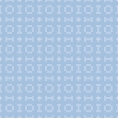 blue background with seamless pattern vector image