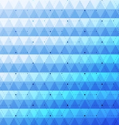 Blue bright abstract triangles seamless pattern vector image