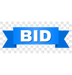 Blue tape with bid title vector