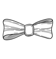 bow tie icon hand drawn style vector image
