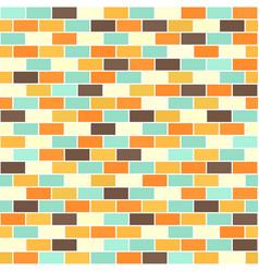 Brick wall pattern seamless brick background vector