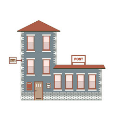 Building exterior of post office vector