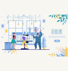 Business time management service website vector