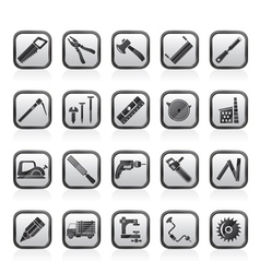 Carpentry logging and woodworking icons vector image