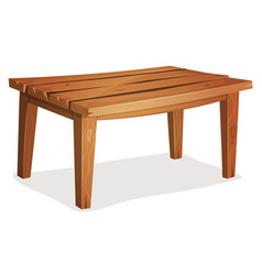 Cartoon wood table vector