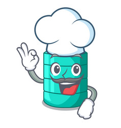 Chef plastic cartoon water tank in the outdoor vector
