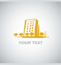 city building apartment logo template design vector image