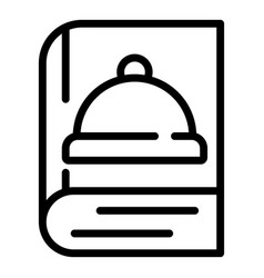 Cookbook icon outline style vector