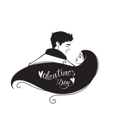 couple silhouette vector image