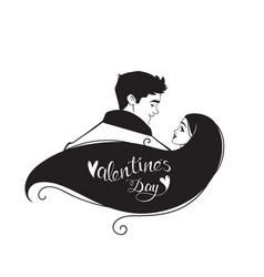 Couple silhouette vector