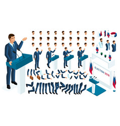 Create your isometric character 3d man vector