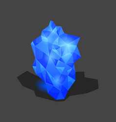 crystalline stone or gem and precious gemstone vector image