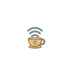 Cup and signal logo design symbol dan icon vector