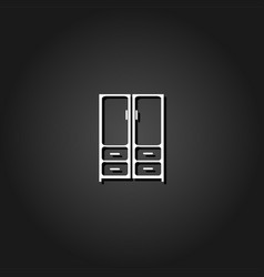 cupboard icon flat vector image