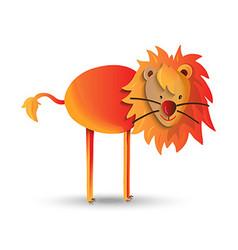 Cute cartoon of happy wild lion vector image