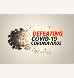 Defeating and destroying coronavirus covid19 vector
