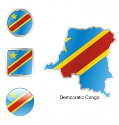 democratic congo vector image