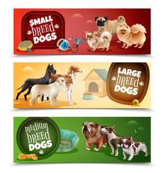 Dog breeds banner set vector