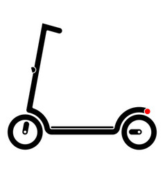 electric scooter with battery in the platform vector image