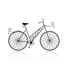 Female bicycle for your design vector image