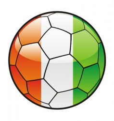 Flag of ivory coast on soccer ball vector