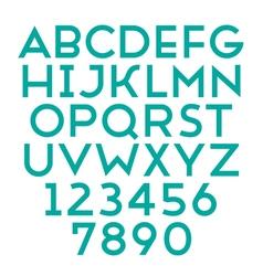 Font grotesque regular bold vector