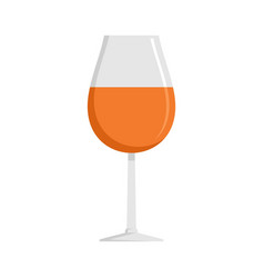glass of cognac icon flat style vector image