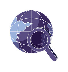 global digital data network server vector image