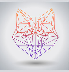 Hipster polygonal animal fox triangle animal vector