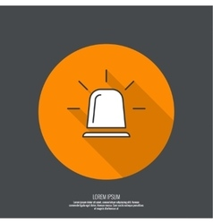 Icon of police fire ambulance siren vector image
