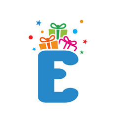 initial gift e vector image
