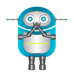 isolated silent robot vector image