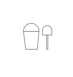 kid sand bucket icon vector image