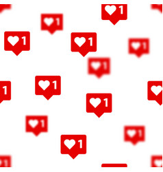 Like vith heart icons background social vector