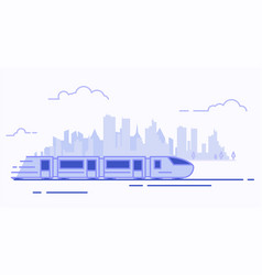 line suburban train vector image