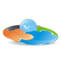 logo disk vector image