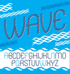 lower case rounded alphabet letters collection vector image