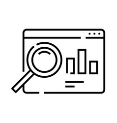 Market research line icon concept sign outline vector