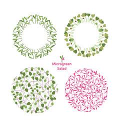 Micro greens food circle graphic design eco logo vector