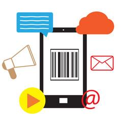 mobile marketing icon on white background flat vector image