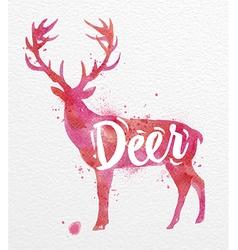 Painted animals deer vector