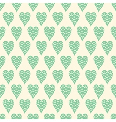 pattern with blue hearts vector image