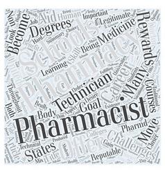 Pharmacy Schools A Closer Look Word Cloud Concept vector