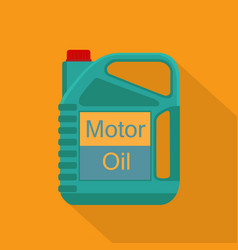 Picture of motor oil tank flat style icon vector