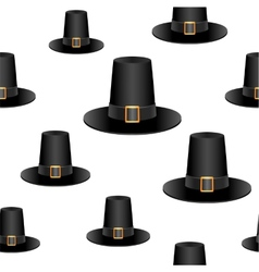Pilgrim hat background vector image