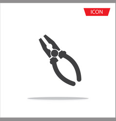 pliers icon isolated on white background vector image