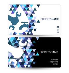 Plumbing repair business card vector