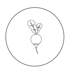 Radish icon outline singe vegetables icon from vector