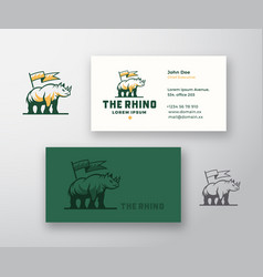 rhino abstract sign or logo and business vector image